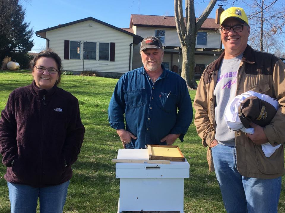 Grand Door Prize Winners of a complete hive!